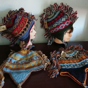 New wool hats from Nepal one size ethnic
